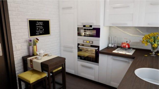 Kis skandináv stílusú konyha - tervezési projekt
