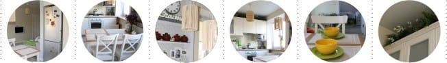 Kis konyha Hruscsovban a hűtőszekrénnyel ellátott résszel - részletek