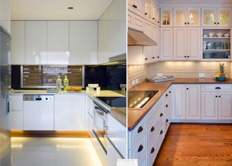 תאורה נייטרלית במטבח - רצועת LED חמה לבן