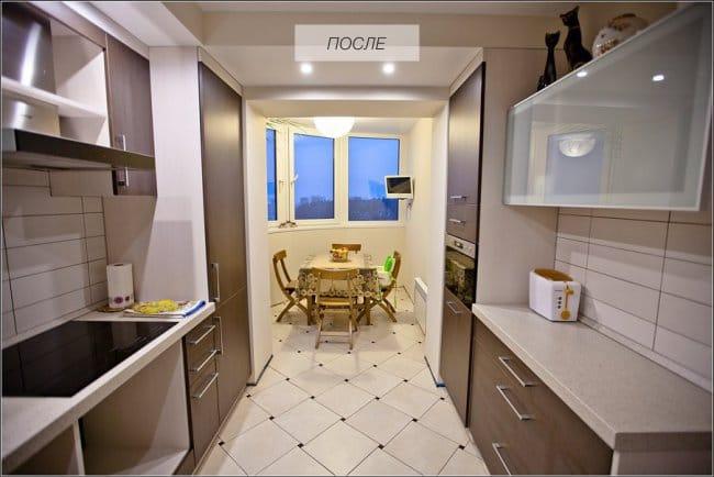 Az erkély és a konyha egyaránt ötvözi a felújítást és a javítást