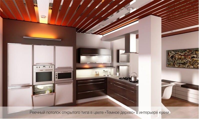 פתח תקרה ארון פנים של המטבח