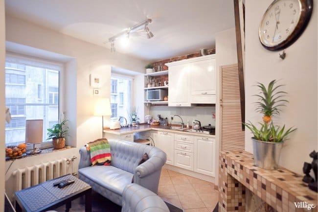 Egy kis lakás felújítása a régi raktárban - konyha-nappali
