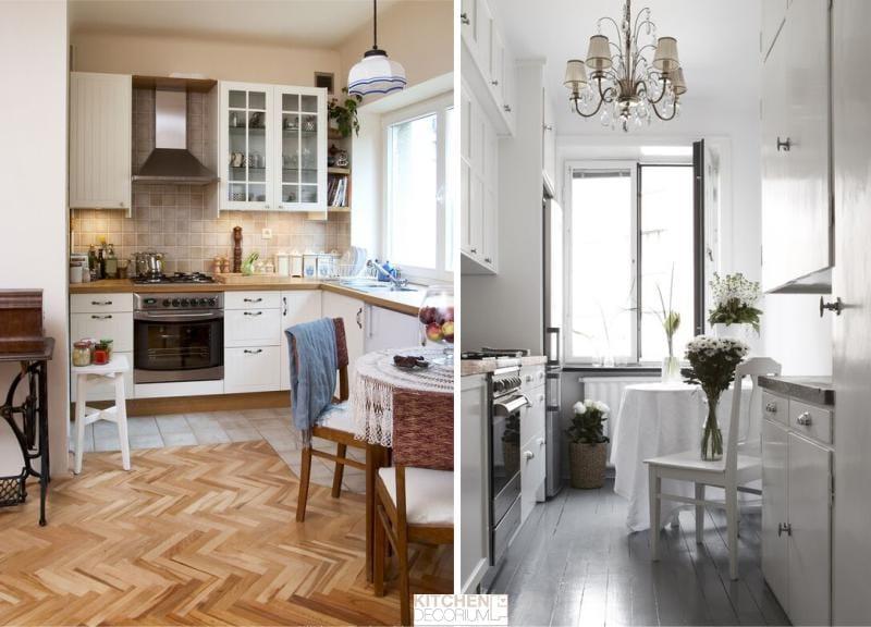 Whitewashing és festés a mennyezet a konyha