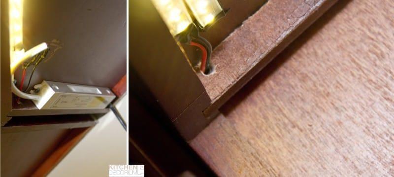 Montáž transformátoru pod skříň