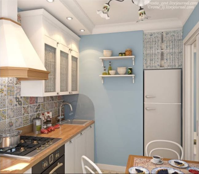Egy kis konyha projektje Hruscsovban