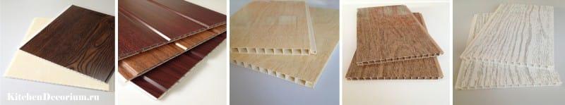 Panneaux en PVC avec motif en bois