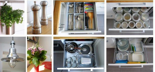 Javítson ki egy kis konyhát partícióval - kiegészítőkkel és tárolószervezettel