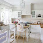 Dapur bergaya Provence Bright