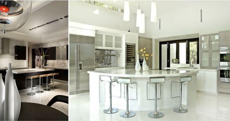 עיצוב מטבח עם אי בסגנון מודרני