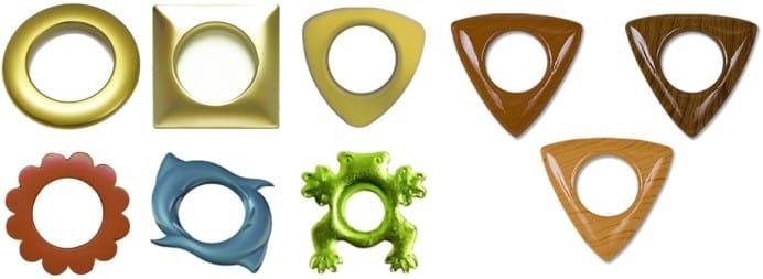 צורות וצבעים של וילונות עבור וילונות