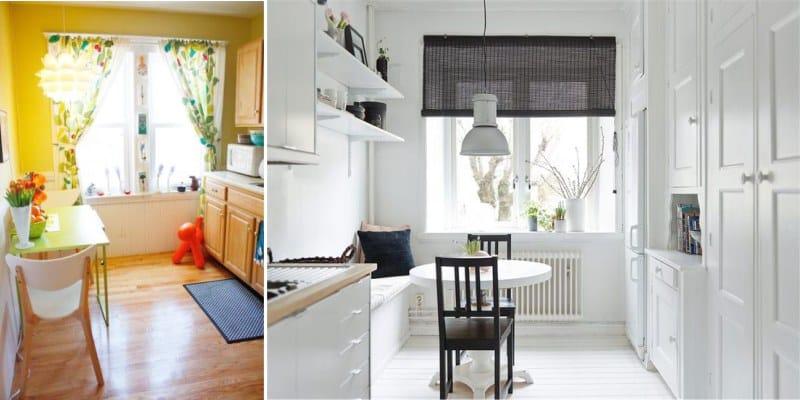 וילונות קצרים כמבטא צבעוני במטבח