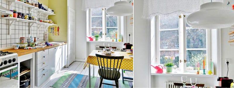 וילונות קצרים בצורת lambrequin בסגנון סקנדינבי