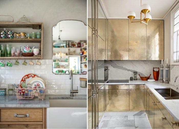 שיש השיש במטבח ב רטרו בסגנון מודרני
