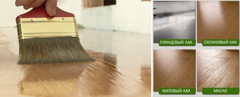 Parkettbrett til kjøkkenet - en sammenligning av olje og lakk