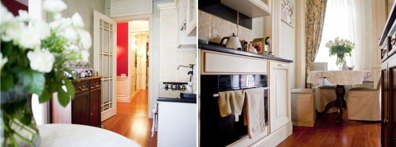 Jatoba gulvbrett i klassisk kjøkkeninnredning
