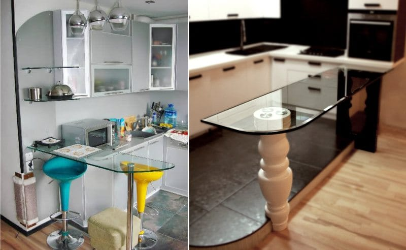 Sarok konyha külön üvegbárral