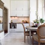 Dapur neoclassical berkilat putih