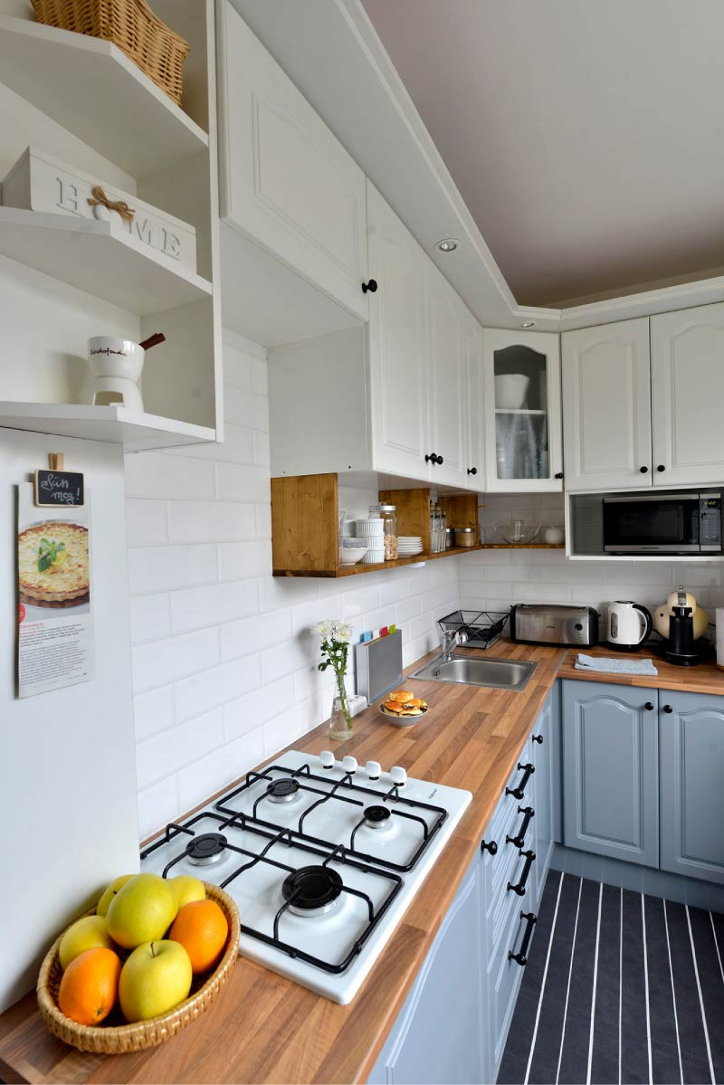 Dapur kelabu putih