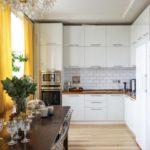 Dapur berkilat di pedalaman