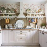 warna coklat di pedalaman dapur di rumah negara