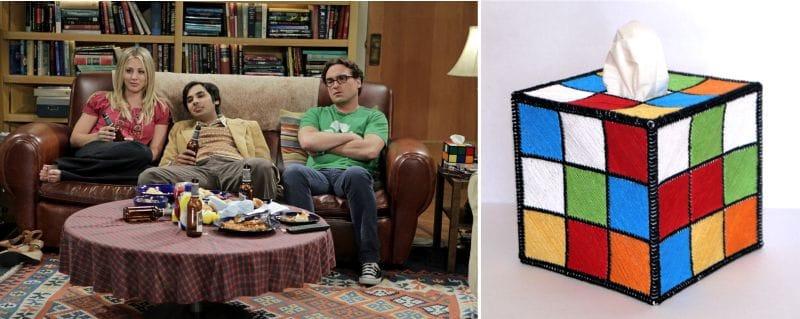 Rubik's Cube a la sala d'estar de Leonard i Sheldon