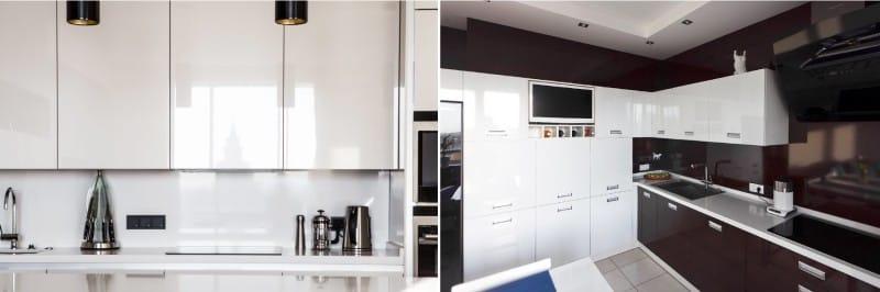 Kuchyňská linka ve stylu minimalismu