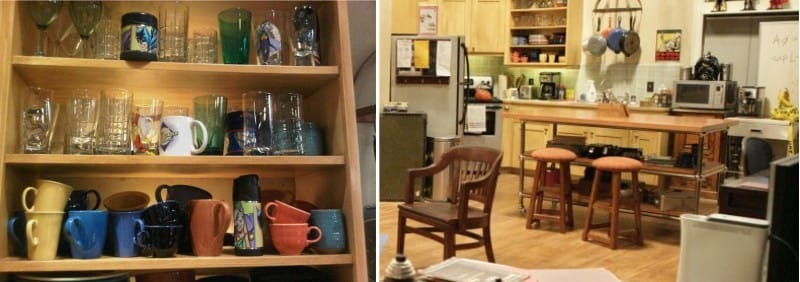 Møbler i køkkenet Leonard og Sheldon