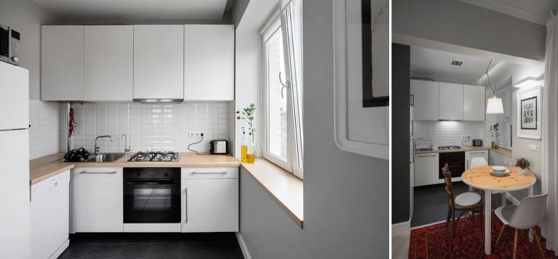 Minimalismus v interiéru malé kuchyně