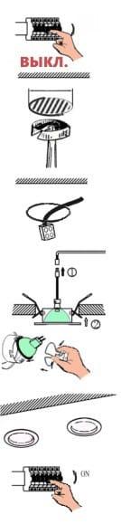 A spotlámpák telepítése do-it-yourselfers