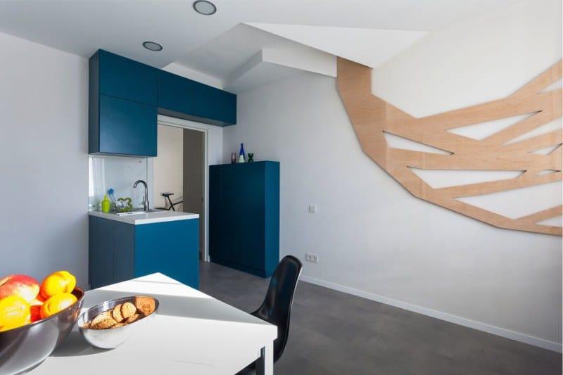 Podlaha v interiéru kuchyně ve stylu minimalismu - porcelán