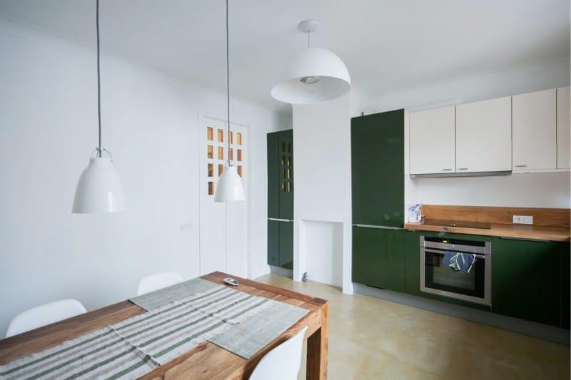 Strop v kuchyni ve stylu minimalismu