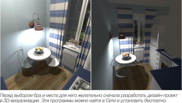 Příklad projektu kuchyňského designu se svícny