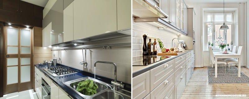 Egységes világítás a konyhai munkalapon
