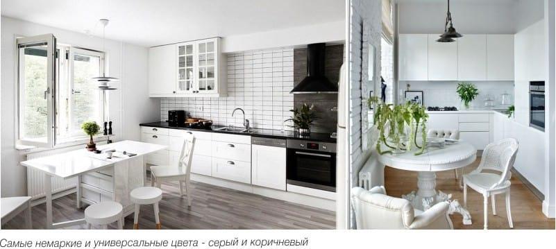 Harmaa ja ruskea laminaatti keittiön sisätiloissa
