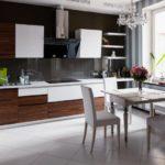 Vaaleanharmaat laatat keittiön lattialla