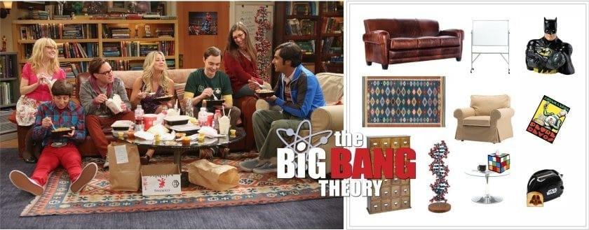 Sisustus Big Bang -teoriassa