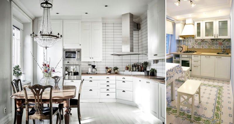 Spotlámpák a klasszikus konyhák belsejében