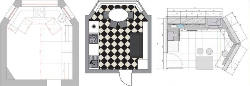 A P-44T sorozatú ház konyhájában egy öbölablak használata