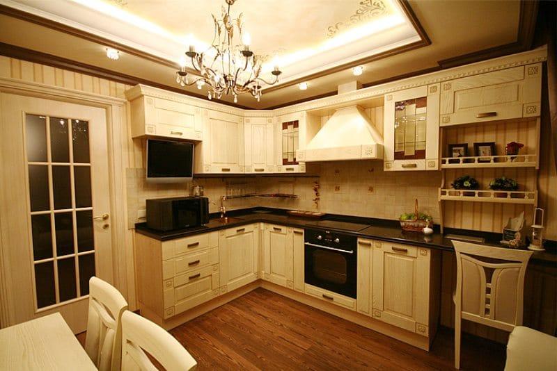 Rekreációs terület a konyhában öbölablakkal