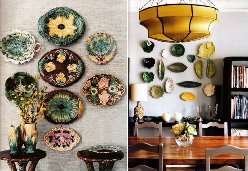 Dekoratív lemezek az azonos alakú és színű falon