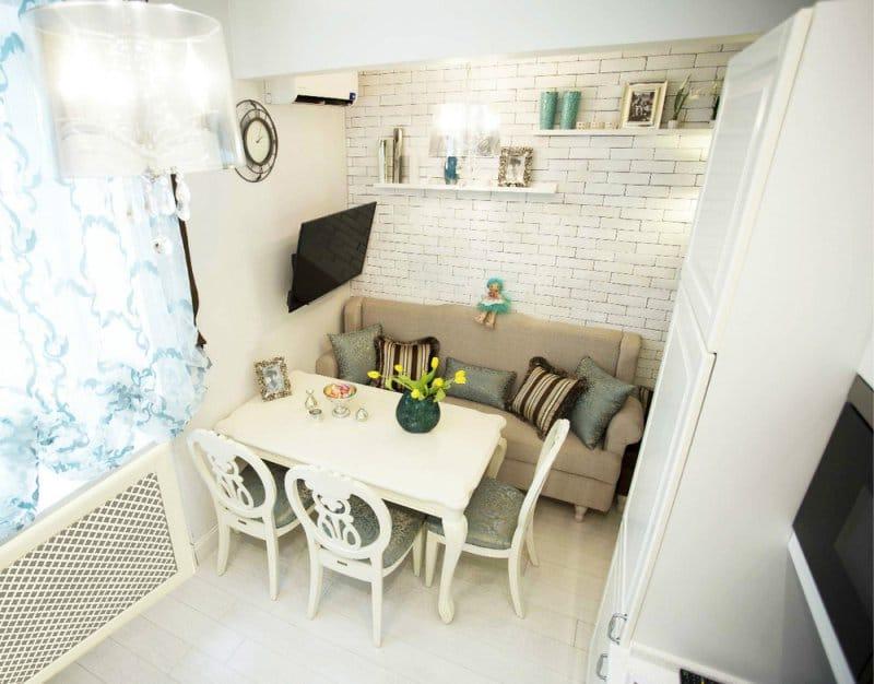 Sofa i køkkenet
