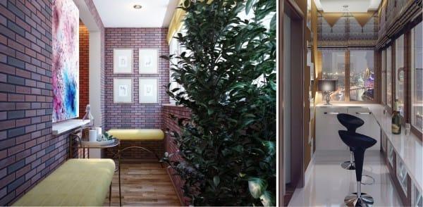 Belső erkély, konyhával kombinálva
