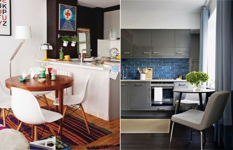 Kerekasztal a konyhában, modern stílusban
