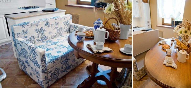 Cuisine de style classique avec canapé