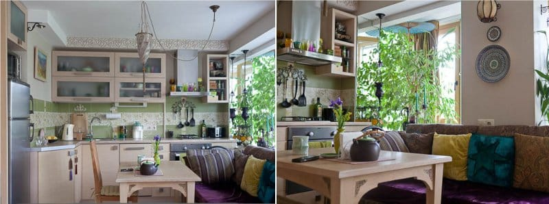 Køkken med sofa i orientalsk stil
