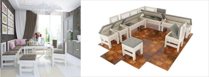 Køkkenhjørne fra massivet af en bøg, Orion-model fra WoodCraft