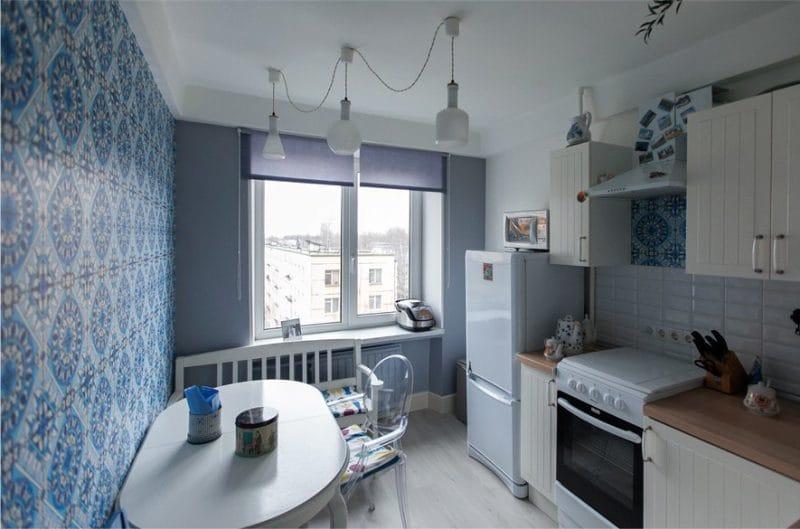 Køkken hjørne med bænk i interiøret