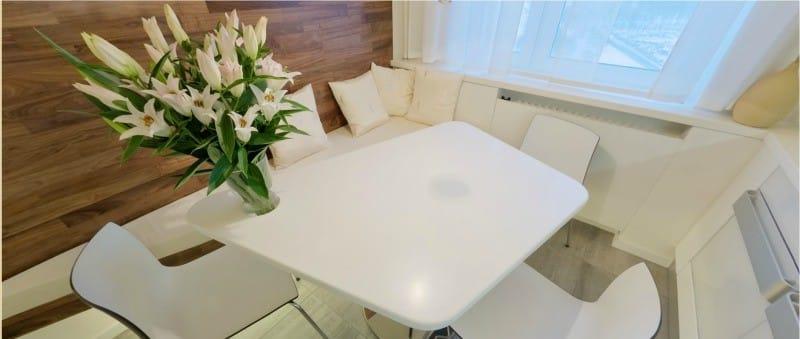 Kitchenette dans le style du minimalisme