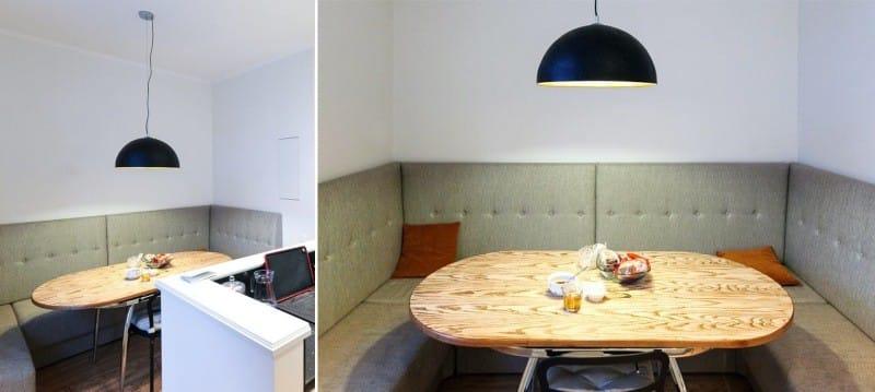 Blødt køkkenhjørne i interiøret