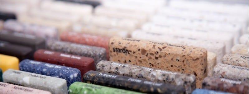 Mesterséges kő mintái